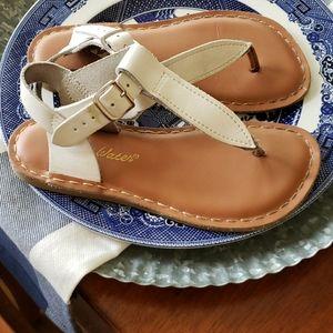 Salt Water Sz 1 Girls leather thong Sandal